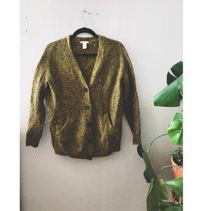 Green Mohair Cardigan